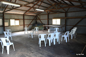 Photo: empty Wooshed ready for a workshop