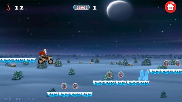 android Santa Bike Dash Screenshot 3