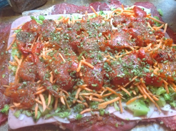 Then add the Fresh Basil Leaves, I used dried sweet basil 2 teaspoons, and...