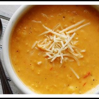 Creamy White Cheddar Corn Soup