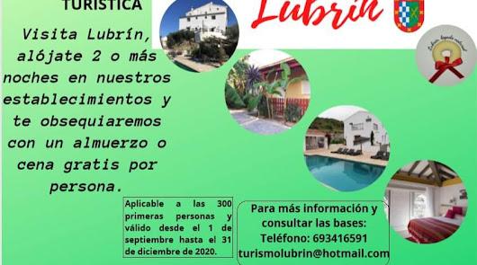 El carnet para ser un 'turista vip' en Lubrín con acceso a servicios exclusivos