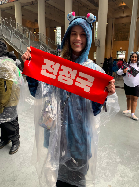ARMY holding Jungkook poster