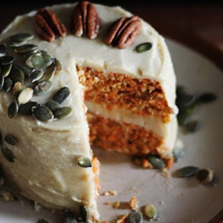 Raw Carrot Cake With Cashew Lemon Frosting [Vegan].
