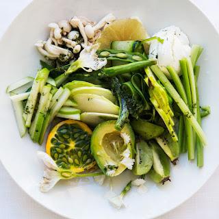 Green Salad with Prosciutto Vinaigrette