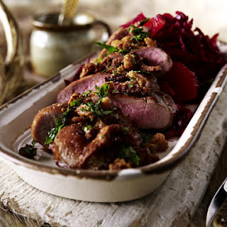 Seared Duck Breast with Beet Slaw