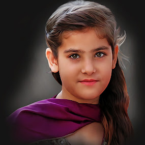 Alishba by Kamran Khan - Digital Art People ( portraiture, swat photography, fashion, kami.pk photography, blue eyes, alishaba, beauty, kamran khan, portrait, eyes )