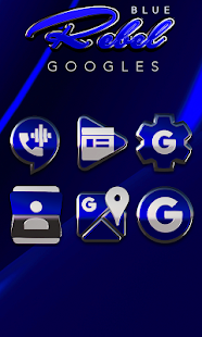 Blue Rebel HD Icon Pack Screenshot
