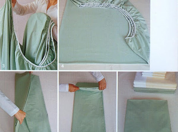For those who can't stand the scrunching & bunching: how to perfectly fold a fitted...