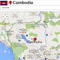 Cambodia map icon