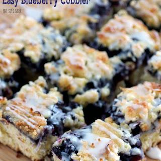 Easy Blueberry Cobbler.