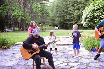 Photo: Two guitars and kids at Townshend State Park by Linda Carlsen-Sperry