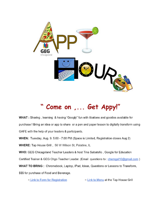Appy Hour 1 Aug 2016