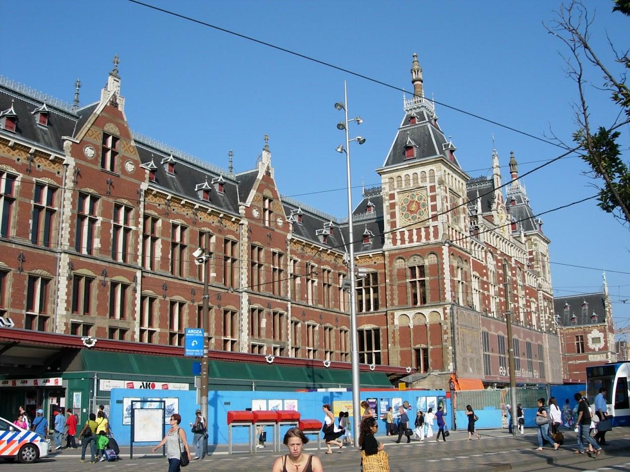 Gare centrale à Amsterdam