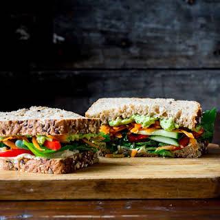 Veggie & Hummus Sandwich.