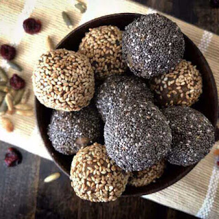 Cranberry Banana Raw Energy Balls.