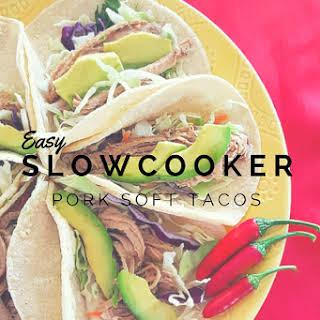 Easy Slow-Cooker Pork Soft Tacos.