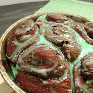 Chocolate-Green Mint Sweet Rolls