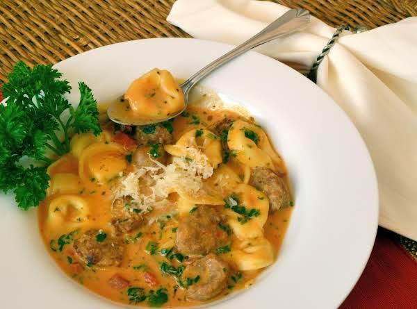 Crock Pot Creamy Tortellini And Sausage Soup Recipe