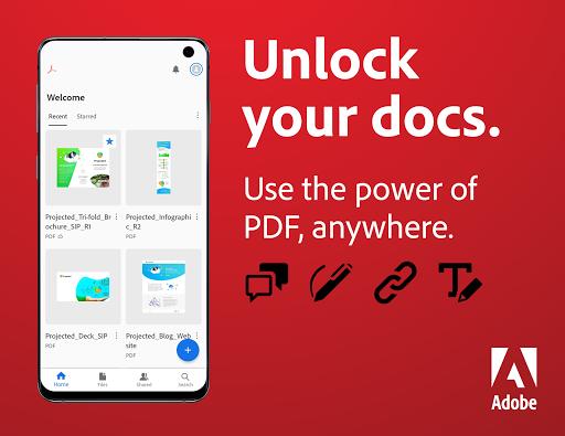 Adobe Acrobat Reader: PDF Viewer, Editor & Creator  screenshots 1