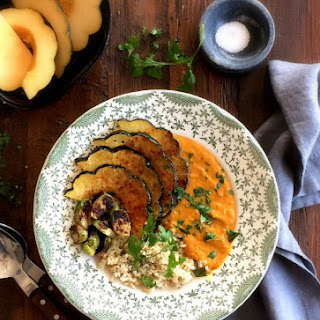 Curry with Spiced Maple Acorn Squash