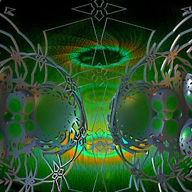 Conscious Construction by Rick Eskridge - Illustration Sci Fi & Fantasy ( fantasy, jwildfire, mb3d, fractal, twisted brush )