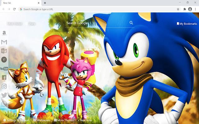 Sonic The Hedgehog Wallpaper HD New Tab