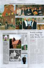 Photo: Dorfkirche Borgfeld La Iglesia en Borgfeld ha recibido un nuevo techo.