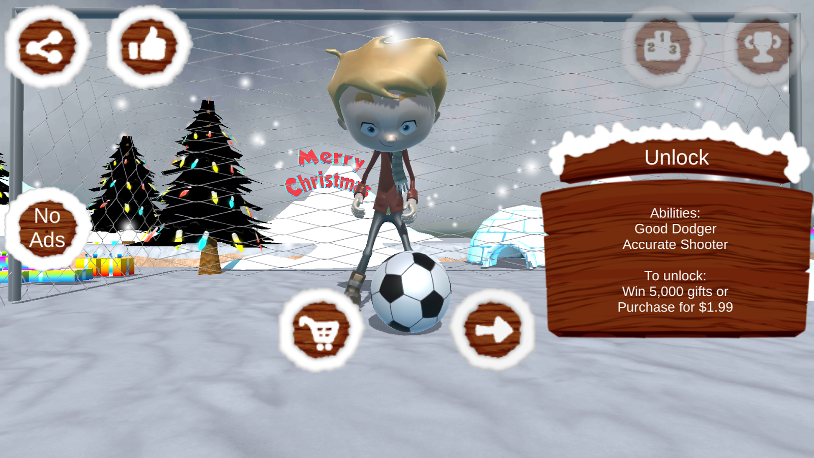 Santa Goalkeeper- screenshot