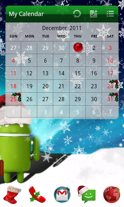 Christmas Theme- screenshot