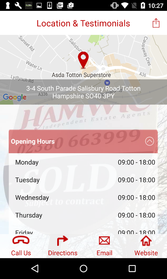 Hamwic Estate Agents- screenshot