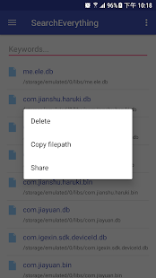 Search everything-Search engine for local file - náhled