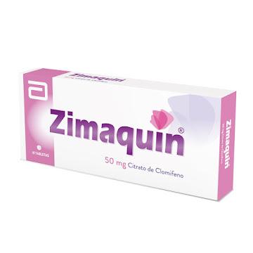Zimaquin 50mg tabletas   Caja x10tab Gynopharm Citrato de Clomifeno