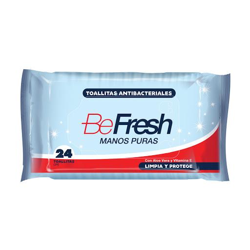 Toallas Húmedas Antibacterial Befresh 24Unidades