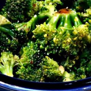 Simple Marinated Broccoli.