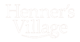 Henners Village Logo - Transparent - White