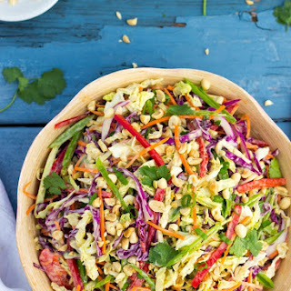 Creamy Rainbow Asian Slaw