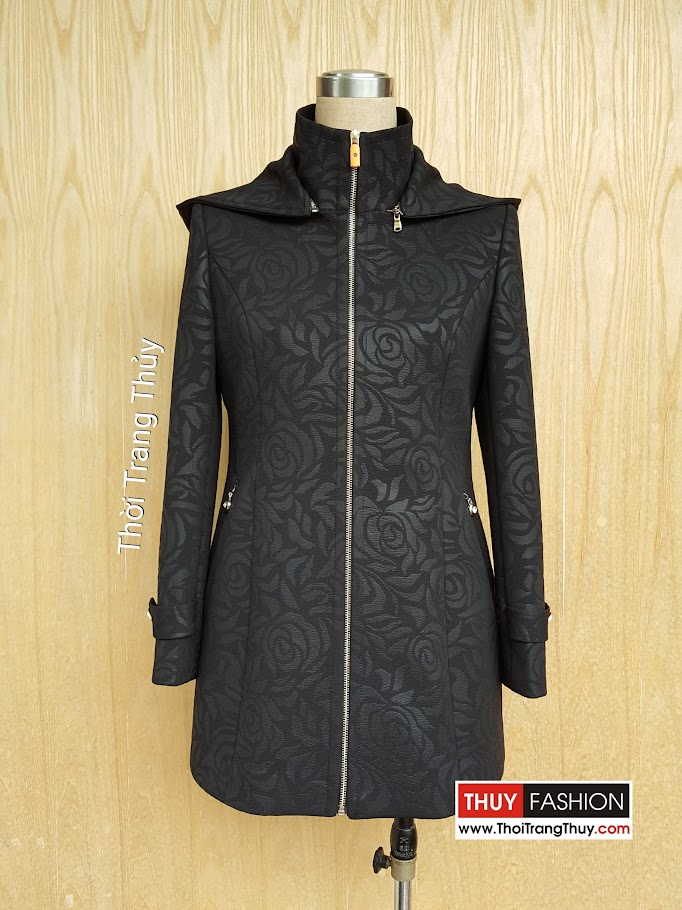 Áo khoác nữ có mũ cài khóa cho mùa thu đông V489 Thời Trang Thủy