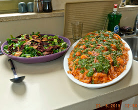 Photo: Daniel, a chef par excellence, prepared the repast with a helping hand from Rosalie