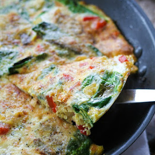 Vegetable Frittata With Dill And Parmesan