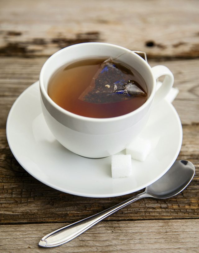 The amino acid found in tea releases feel-good chemicals in the brain.