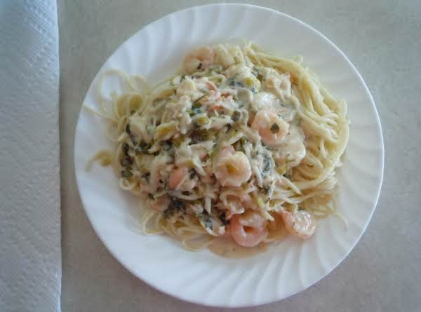 Ranch Shrimp & Crab Pasta Recipe