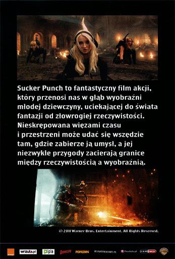 Tył ulotki filmu 'Sucker Punch'