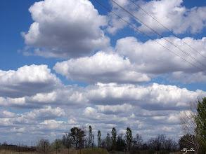 Photo: Nyári kék ég felhőkkel