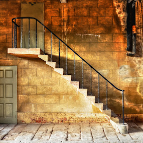 strange proportions by Ray Heath - Buildings & Architecture Public & Historical ( uk, restoration, elvaston castle, stately home, old stairs, heritage, derbyshire, derby,  )