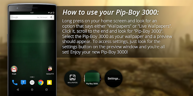Pip-Boy 3000 Live Wallpaper- screenshot thumbnail
