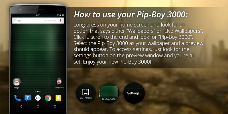 Pip-Boy 3000 Live Wallpaper- screenshot