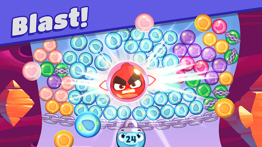 Angry Birds Dream Blast - Toon Bird Bubble Puzzle apkslow screenshots 1