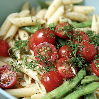 Penne with Green Beans and Tomatoes.