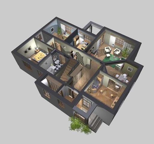 APS 002 - Rzut parteru 3D