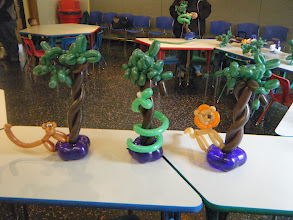 Photo: Jungle centerpieces for a birthday party at The Grand Rapids Childrens Museum.